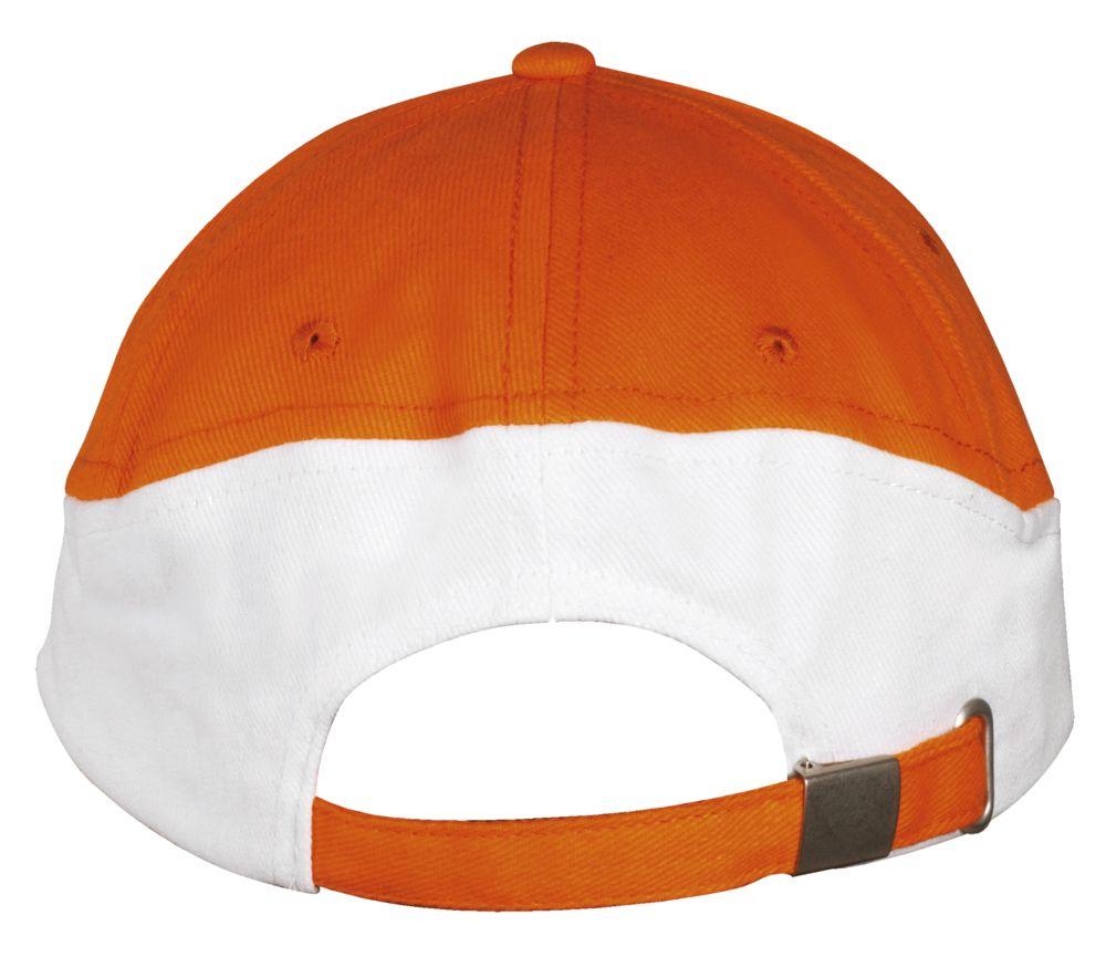 Бейсболка BOOSTER, оранжевая с белым