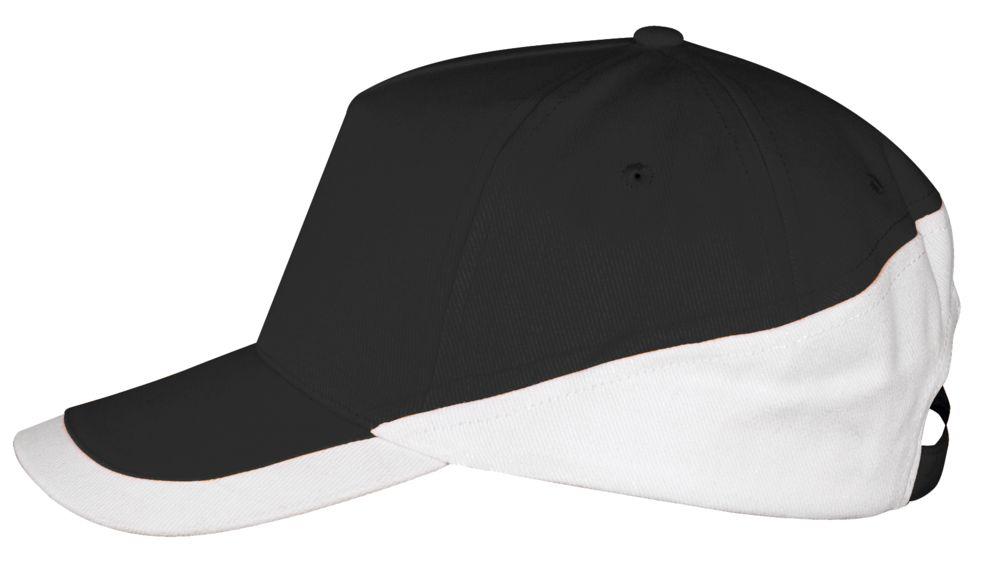 Бейсболка BOOSTER, черная с белым
