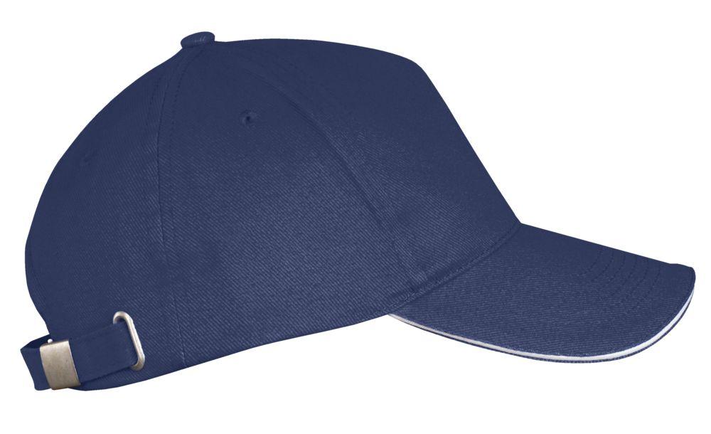 Бейсболка LONG BEACH, темно-синяя с белым