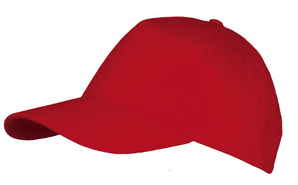 Бейсболка LONG BEACH, красная