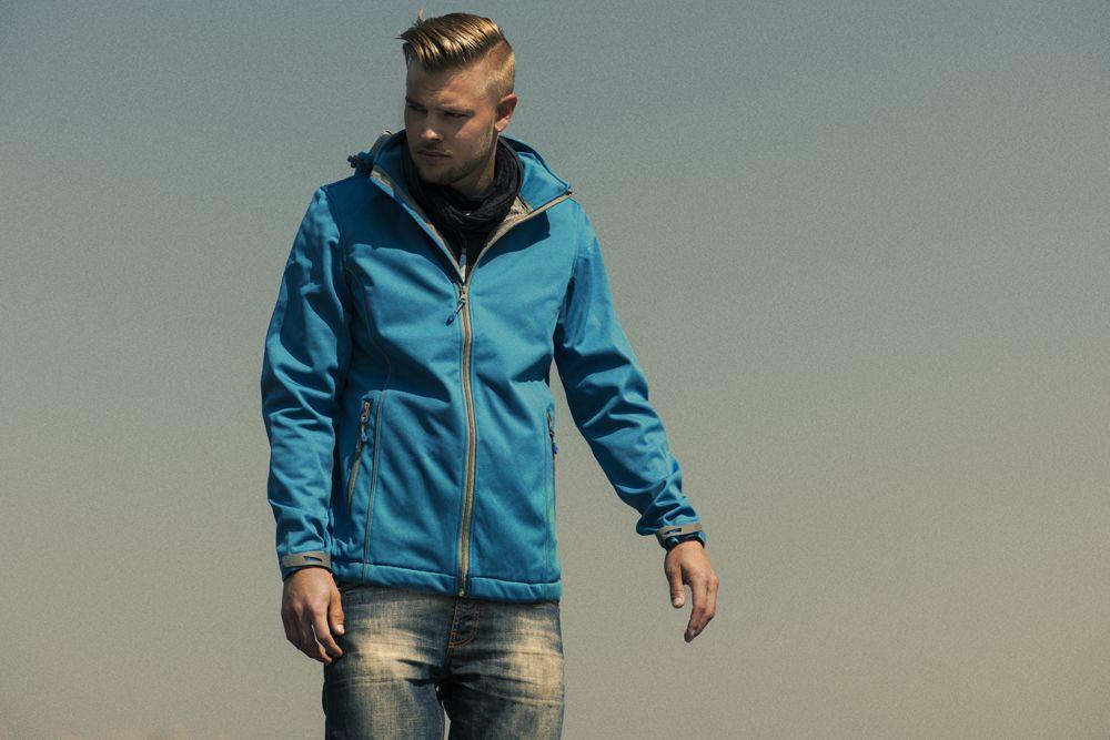 Куртка софтшелл мужская SKYRUNNING, синяя