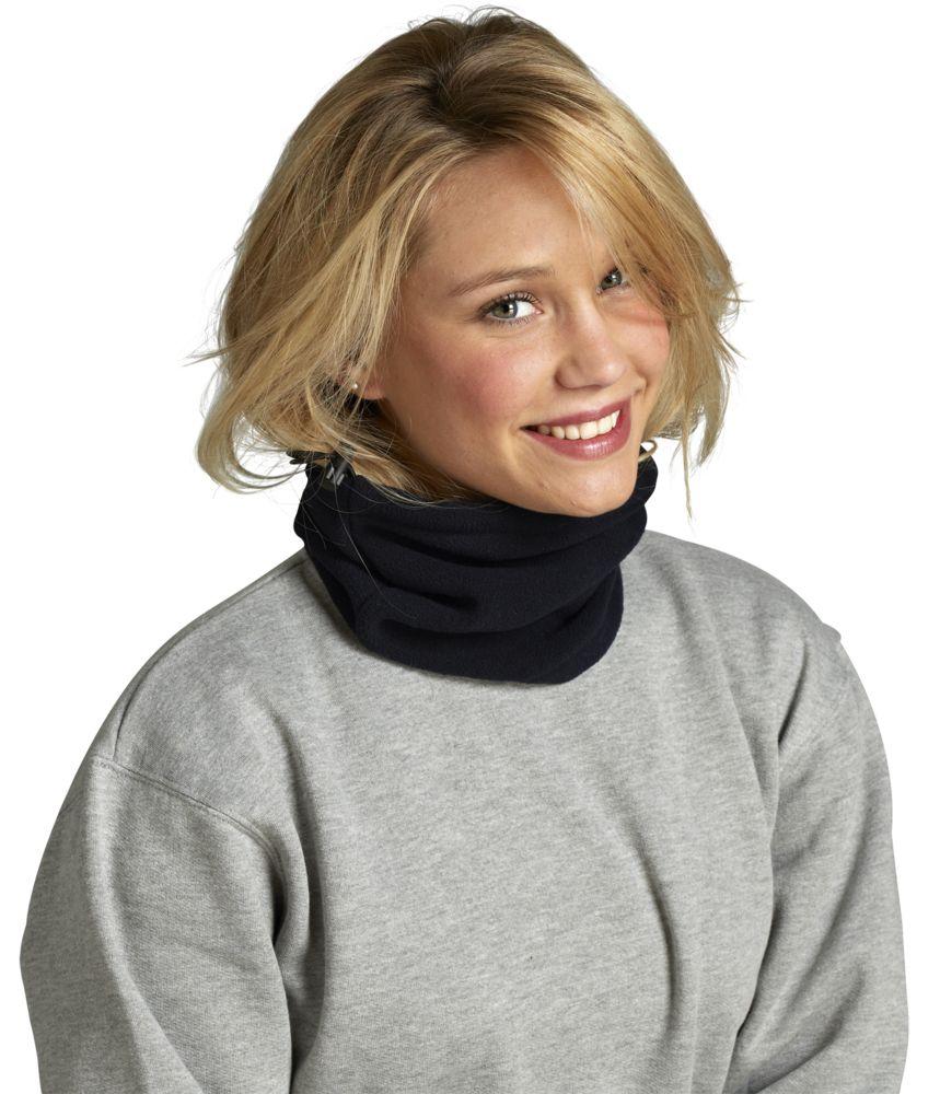 Шапка-шарф с утяжкой BLIZZARD черная
