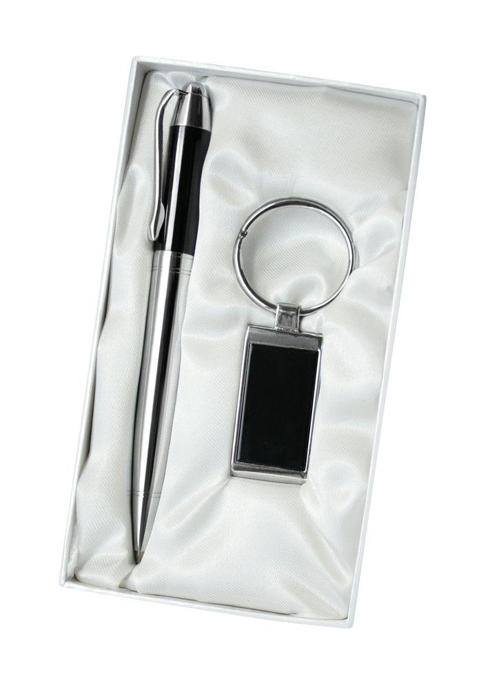 Набор «Джет-2»: шариковая ручка и брелок, коричневый