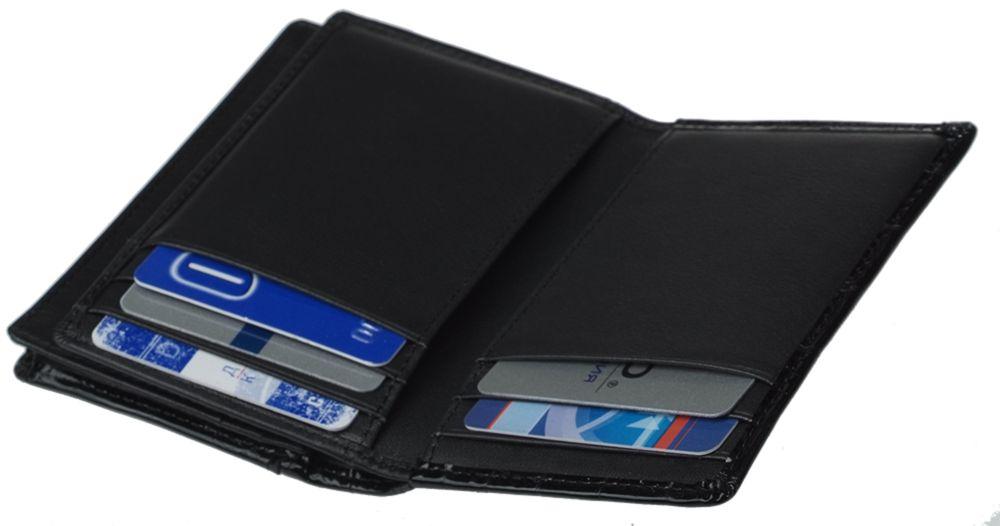 Футляр для визиток и кредитных карт Glanzkroko, черный